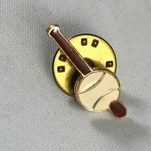 Vintage Webelos Boy Scouts Metal Enamel Pin - Baseball Bat and Ball Soft... - $4.75