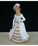 1940s 50s L'amour China Early Lefton Figurine Pink Lady Enterprise Spagh... - $70.13