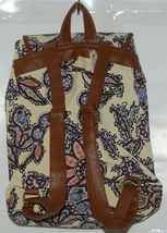 Howards Purse Backpack Set Yellow Multicolor Paisley Type Print Canvas image 8