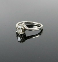 Vintage .925 Sterling Silver Oval CZ Stone Solitaire Engagement Ring Siz... - $263,65 MXN