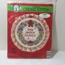 "Christmas Wreath Stamped Cross Stitch Kit Colortex 10.5""  - $9.74"