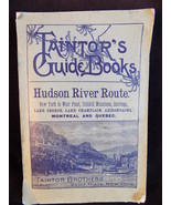 ANTIQUE GUIDE BOOKS 1898 TAINTR'S BROTHERS  HUDSON RIVER ROUTE w/ Map - $75.23