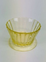 "1 Depression Glass  Yellow  Vaseline Glass, Dessert Cups, 2""s Tall - $5.94"