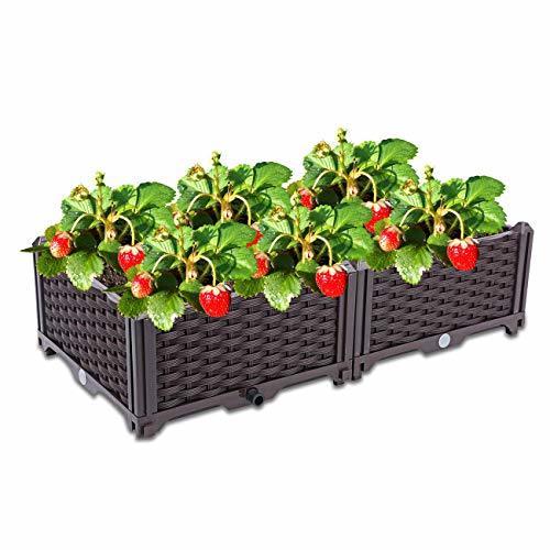 Dyna-Living Raised Garden Bed Plastic Planter Raised Bed Kit for Flower Vegetabl