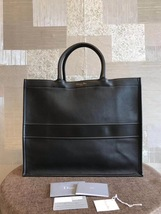 NWT AUTH CHRISTIAN DIOR 2019 BLACK OBLIQUE BOOK TOTE BAG LIMITED RUNWAY  image 2