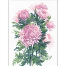 RIOLIS Counted Cross Stitch Kit, Bouquet Of Chrysanthemums, Kit #R1595 - $31.34