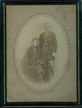 Black and White 1890's Photograph Couple Man an... - $19.79