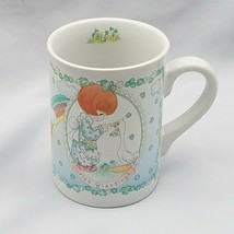 Precious Moments Irish Blessing Girl & Goose Mug Cup ENESCO 1993  - $8.79