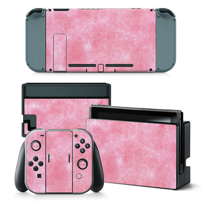 Nintendo Switch Pink Pearl Console & Joy-Con Controller Decal Vinyl Skin Wrap