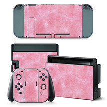 Nintendo Switch Pink Pearl Console & Joy-Con Controller Decal Vinyl Skin... - $12.84