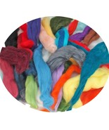 100% 20-21 Micron Merino Wool  Scraps in a Mix of Colors for Spinning, F... - $13.99+