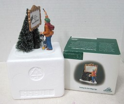 Dept 56 Heritage Village Painting Your Own Village Sign w Box MINT! 1986-2008 - $22.28