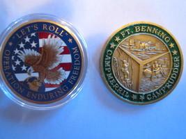 ((2)) Army Ranger Challenge COINS--ENDURING Freedom RANGER-BENNING RANGER-B47-10 - $16.85