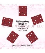 Milwaukee 6033-21 1/4 Sheet 5-Pack Sandpaper Blowout! 17 Grits! Free Ship! - $5.38
