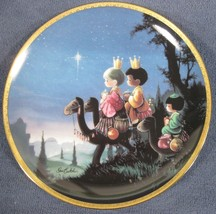They Followed The Star Collector Plate Precious Moments Bible Story Sam Butcher - $14.95