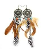Gold Plated Q&Q Fashion Western Cowgirl Vintage Big Dream Catcher Feathe... - $9.96