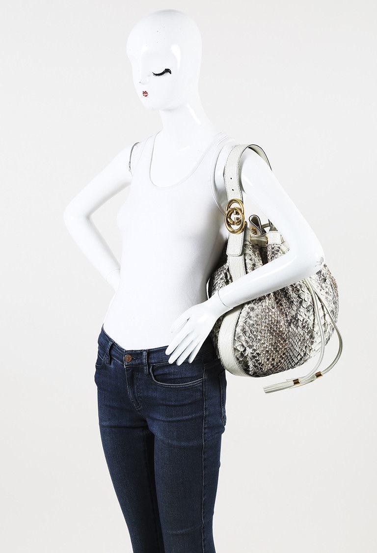 "Gucci ""Icon"" Medium Python Shoulder Bag"