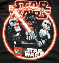 Gap Kids Star Wars Lego Darth Vader and Storm Troopers Black Shirt Size ... - $14.95