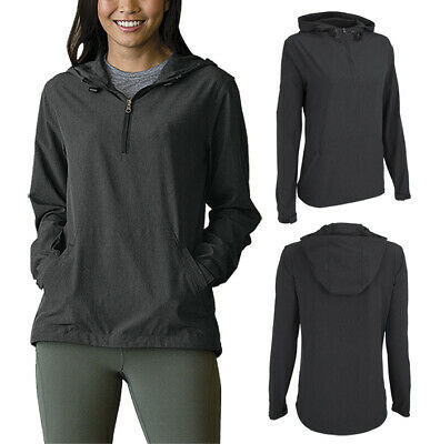 Women's Pullover Water Resistant Quarter Zip Up Drawstring Hood Pullover  XL