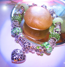 Haunted 7x LUCKY MOJO GOOD LUCK  BRACELET  MAGICK 925  MURANO WITCH Cassia4 - $35.00