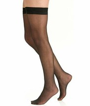 Berkshire FANTASY BLACK Sheer Invisible Toe Thigh Highs, 2-Pack, Size A-B image 2