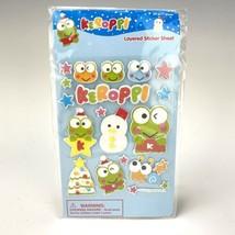 Sanrio Keroppi Layered Sticker Sheet Christmas 2011 Glitter 20pc 1 Sheet - $14.59