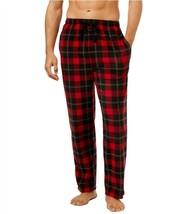 Perry Ellis Mens Fleece Pajama Pants Size Medium Red Plaid $42.50 NWT - $14.24