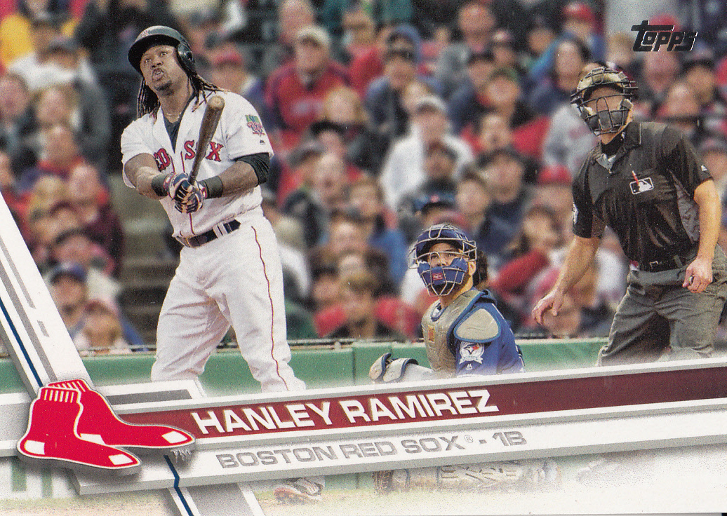 Primary image for Hanley Ramirez 2017 Topps Series 2 Card #508