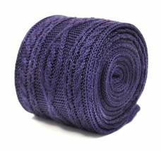 Frederick Thomas uni violet Cravate en maille avec tricot torsadé modèle ft2217