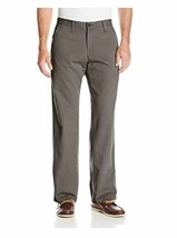 Lee Men's Weekend Chino Straight Fit Flat Front Pant 30x32 color WALNUT NWT - $16.15