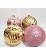 HUGE Stunning Shabby Chic Baby Girls Pink Gold Glitter Ornaments Decor S... - $32.99
