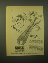 1965 Mole Self-Grip Wrench Ad - Free those hands - $14.99