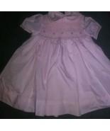Petit Ami Vtg  Floral Vintage Smocked Baby Girls Dress Sz 3 Months  - $41.58