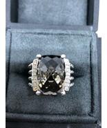 David Yurman Wheaton Ring With 16x12 mm Smoky Quartz And Diamonds Size 6.5 - $321.75