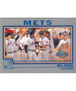 Mike Piazza ~ 2004 Topps Opening Day #15 ~ Mets - $0.50