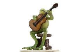 Hagen Renaker Miniature Frog Froggy Mountain Breakdown Guitar Ceramic Figurine