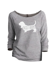 Thread Tank Basset Hound Dog Silhouette Women's Slouchy 3/4 Sleeves Ragl... - $24.99+