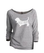 Thread Tank Basset Hound Dog Silhouette Women's Slouchy 3/4 Sleeves Ragl... - $24.99+
