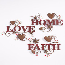 3-Pc. Hearts and Stars Wall Art - Words  - $18.74