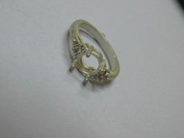 925 sterling Silver mount Ring,Round 7.0 mm, RI-0136,ring,all size avail... - $9.00