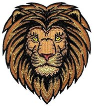 Lion Patch Embroidered Iron-On Applique Roaring African Safari Striped Souvenir - $4.49