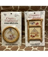 VTG Set of 2 Country Traditional Cross Stitch Kits Apples N' Spice Just ... - $14.00