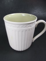 3 Mikasa Italian Sage Coffee Mug/s Cups Green White Bundle of 3 - $19.79