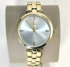 Fossil Suitor Stainless Steel  BQ7022 Gold Tone Women's Watch MSRP $135 - £53.49 GBP