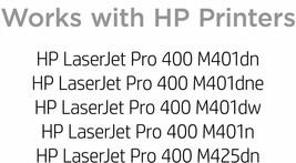 HP 80A Black Toner Cartridges (CF280A) For HP LaserJet Pro 400 M401, 400 M425 - $59.38
