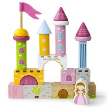 Toddler Toys For Boys, Wooden Wonders Princess Pine Castle Playset For Kids - $27.99