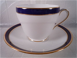 Spode Consul Cobalt Footed Cup and Saucer - $24.92