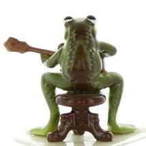 Hagen Renaker Miniature Frog Froggy Mountain Breakdown Mandolin Ceramic Figurine image 6