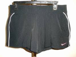 NIKE POWER CONTROL WOMEN'S TENNIS SHORTS BLACK INNER COMPRESSN SHORT SZ ... - $27.71