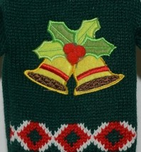 DMM Uncle Bobs XSweat Ugly Knitted Bottle Sweater Green with Bells and Holly image 2